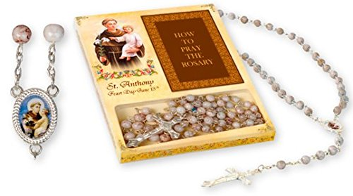 Catholic Gift Shop Ltd Anthony Rosenkranz mit St. Anthony Padua Novena, Booklet Geschenkset mit Lourdes Gebets-Karte