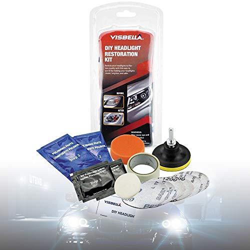 Never-hu Renovateur Phare Voiture Kit, Rénovation Optique de Phare Kit de Polissage Lustreur Réparation Headlight Restore Auto par