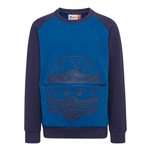 Lego Wear Jungen LWSIAM 651-SWEATSHIRT Sweatshirt, Blau (Blue 553), (Herstellergröße: 116)
