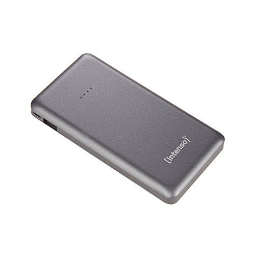 Intenso 7332534  Powerbank S10000 Slim externes Ladegerät (10000mAh, geeignet für Smartphone/Tablet PC/MP3 Player/Digitalkamera) grau