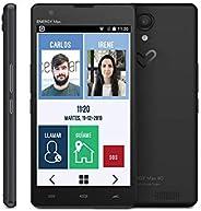 CerQana Smartphone Sencillo con localizador y pictogramas. Diseñado para Mayores o Personas con Autismo o depe