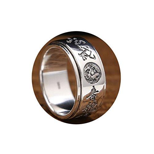 Epinki 925 Sterling Silber Herren Ringe Vier Tiere Bandringe Allergiefrei Herrenringe Silber Gr.57 (18.1) (Sterling Silber Siegelring Männer)