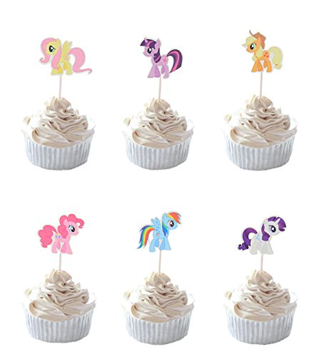 Party Hive 24-MY LITTLE PONY Cupcake Topper für Geburtstag Party Event Decor