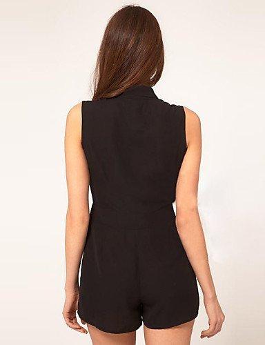 GSP-JUMPSUIT ( Mousseline ) Shorts - Fin - Micro-élastique à Sans manche black-xl