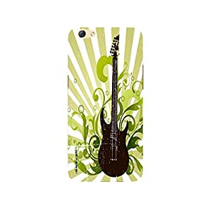 iSweven Artistic_Guiter design printed matte finish multi-colored back case cover for Oppo R9s Plus