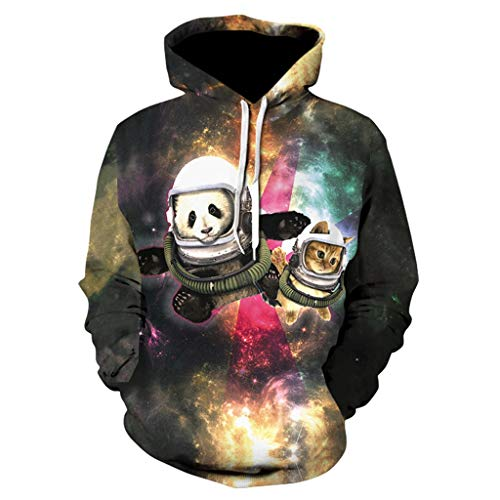 ◆Elecenty◆ 3D Graphic Printed Hoodies for Men,Women, Unisex Pullover Hooded Shirts Realistic Langarmpullover Rundhals Sweatshirts - Adult Heavyweight Long Sleeve T-shirt