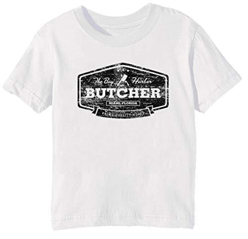 Das Bucht Hafen Metzger Unisex Jungen Mädchen T-Shirt Rundhals Weiß Kurzarm Größe 3XS Kids Boys Girls T-Shirt XXX-Small Size 3XS