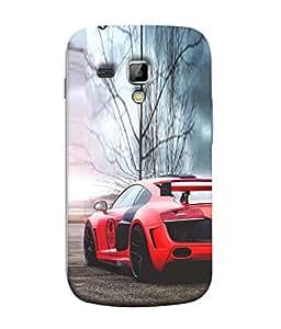 PrintVisa Designer Back Case Cover for Samsung Galaxy S Duos 2 S7582 :: Samsung Galaxy Trend Plus S7580 (Classy Re Colour Car )