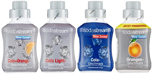 4er Sirup Softdrink-Light Cola, Orange Light, Cola Light, Cola-Mix SodaStream