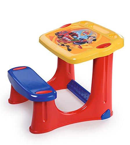 Smoby - 420205 - Sam le Pompier - Pupitre pour Enfant - 3 Zones de Rangement - + Accessoires Inclus