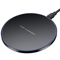 Idea Regalo - Limxems 10W Fast Wireless Charger Fast Qi Induzione Stazione di Ricarica per iPhone X / 8/8 Plus Samsung Galaxy S9 / S8 / S8 Plus / S7 / S6 Edge/Note 8 / Note 5 e Tutti i dispositivi abilitati Qi