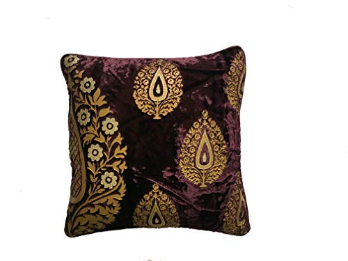 AURA CREATIONS Cushion Cover Design 16x16 Sofa Cushion Covers Velvet Cushion Covers Set of 2 Cushion Covers Online Best Quality