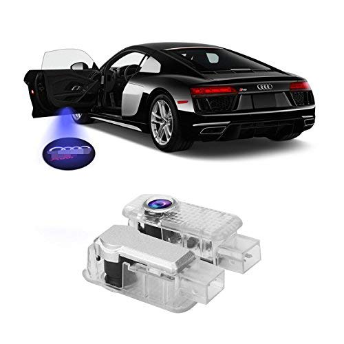 FlexDin Kit luci LED sportello Logo 3D proiettore auto portiere 5wat per A4 A3 A5 A6 A8 TT R8 Senza Modifi (2 set)