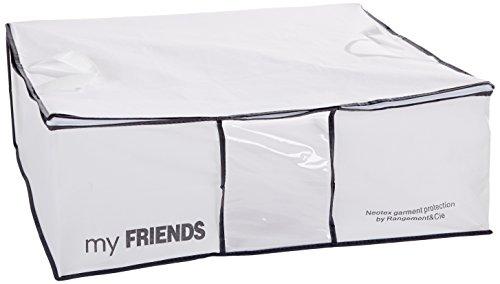Rangement & Cie RAN633 Aufbewahrungstasche für Bettdecken, Polypropylen, Peva, Weiß