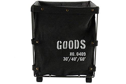 Wäschekorb Wäschewagen GOODS auf Rollen Schwarz