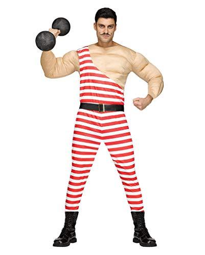 Horror-Shop Vintage Zirkus Bodybuilder Muskelkostüm für Männer One - Vintage Zirkus Kostüm Männer