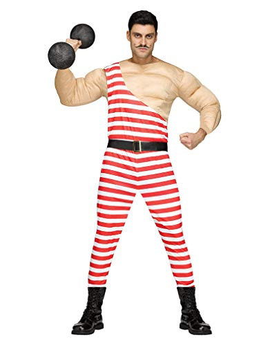 Vintage Zirkus Kostüm Männer - Horror-Shop Vintage Zirkus Bodybuilder Muskelkostüm für Männer One Size
