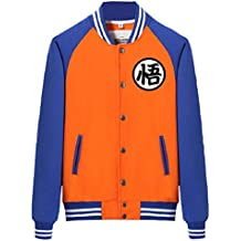 Bromeo Dragon Ball Anime Unisexo Béisbol Uniforme Manga Larga Chaqueta Coat