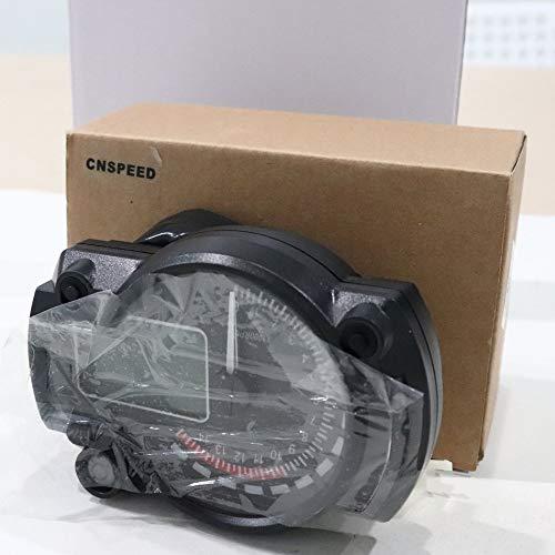 1000rpm Motorrad Digital Light LCD Tachometer Drehzahlmesser - schwarz
