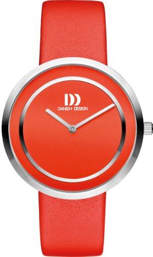 Danish Designs DZ120318 - Reloj de cuarzo para mujer, correa de cuero color rojo