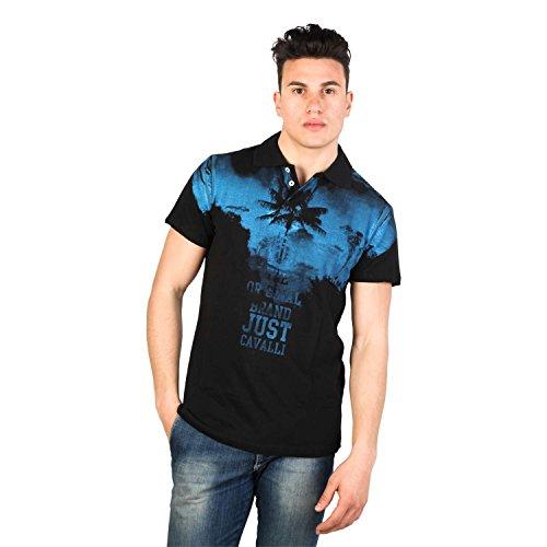 Just Cavalli Schwarz Polo Shirt (50, Schwarz Blau)