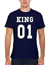King Or Queen His And Hers Valentines Couple Novelty Femme Homme Men Women Unisex Top T Shirt