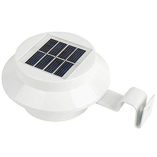 Kompakt-kopf-zahnbürste (myfei Solar Energie Spüle Lampe, Solar Powered 3LED Zaun Gutter Licht Eaves Street LED, Outdoor Garten Rasen Haus Licht White--warm Light)