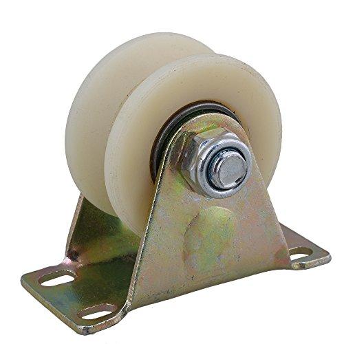 cnbtr 6,3 cm Dia Beige 45 # Stahl Nylon Groove Track Roller starr Caster Rad für industrielle Maschinen Carts 200 kg