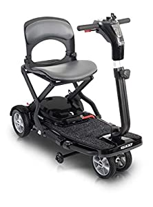 Pride Mobility Quest Folding Scooter – Indoor/Outdoor Power Mobility Scooter – 4-Wheel Electric Scooter for Adults