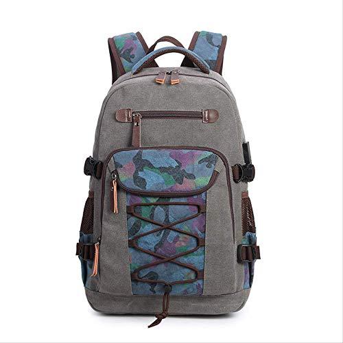 Multifunktions-USB-Aufladungsmann-Laptop-Rucksäcke für Jugendlich-Mode-Mannesreise-Rucksackgrau - Canvas Long Strap Handtasche