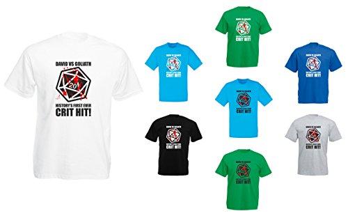 David Vs Goliath, D20, Mens Printed T-Shirt