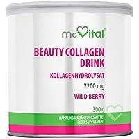 Preisvergleich für Beauty Collagen Drink - Kollagenhydrolysat - Hautfeuchtigkeit - gegen Linien und Falten - WILD BERRY - 300 g