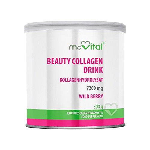 Beauty Collagen Drink - Kollagenhydrolysat - Hautfeuchtigkeit - gegen Linien und Falten - WILD BERRY - 300 g - Beauty Drink