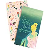 Echo Park Paper Company TNME1001 Mermaid Travelers Notebook Insert-Blank Paper, Teal, Green, Blue, Aqua, Pink, Coral