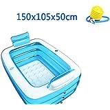 WCUI Inflable Bañera Espesamiento Aislamiento Plástico Doble Simple Hogar Niños Piscina Adulto Pareja Baño Bañera Bañera Bañera Bañera Seleccionar ( Tamaño : 150*105*50CM )