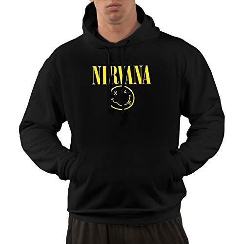 Men's Hoodie Sweatshirt Nirvana Smile New Classic Minimalist Style Black M