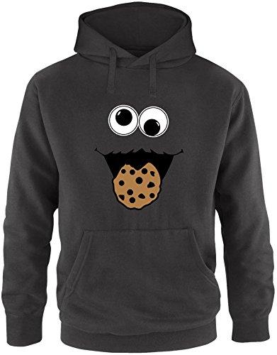 EZYshirt® Cookie Monster Herren Hoodie   Herren Kapuzenpullover   Herren Pullover (Herren Monster Kostüm Hoodie)