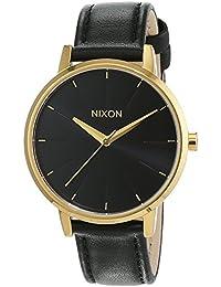 Nixon Damen-Armbanduhr Kensington Leather Gold / Black Analog Quarz Leder A108513-00