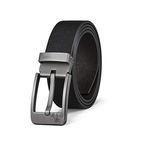 Verstellbarer Gürtel Leder Business Mode Freizeit Polyester Oberfläche Zarte Komfort Dornschließe Für Erwachsene,Black