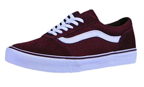 Skate Rot Vans Schuhe (Vans Damen Maddie Suede/Canvas Sneaker, Rot ((Suede/Canvas) Cabernet R6y), 39 EU)