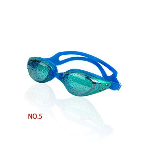 Provide The Best Einstellbare überzog PC-Brille Gläser Schwimmen Anti Nebel UV-Schutz-Eyewear Light Blue