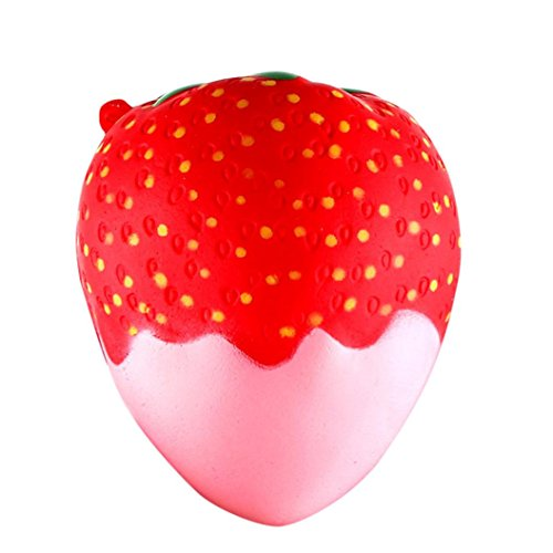 Erdbeere Spielzeuge Duftend Matschig Langsam Steigend Drücken Spielzeuge Jumbo Sammlung Hirolan Handy Halterung Hand Kissen Spielzeug Geschenk (11.5x9.5cm, B) (Langsam, Hand Mixer)
