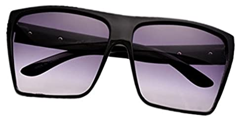 Ardisle Sunglasses Designer Mens Man Ladies Womens Large Big Oversized Wrap Shades Retro (Black)