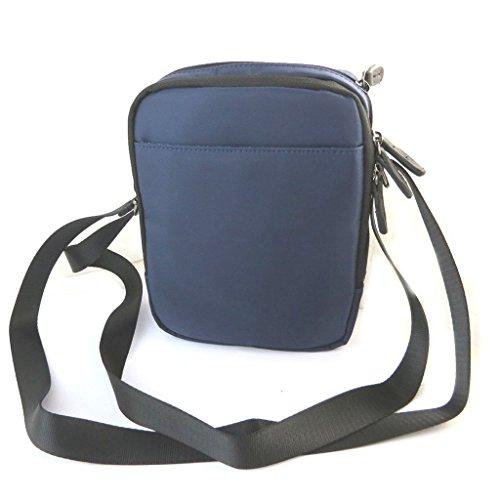 Bolsa de hombro 'Indispensable'azul oscuro (2 compartimentos)- 21x17x7 cm.