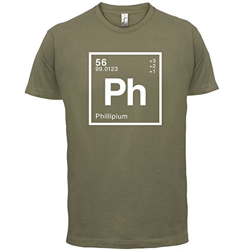 Phillip Periodensystem - Herren T-Shirt - 13 Farben Khaki