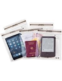 Noaks Bags 60.01.021 - Pack de 5 bolsas secas con cierre zip (100% impermeables y herméticas), transparente, tamaño M