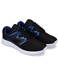 Zenwear Sports Shoes, Running Shoes, Lace Up Shoes for Men, Black
