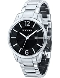 Cross CR8002-11 - Reloj analógico para hombre, correa de acero inoxidable color negro