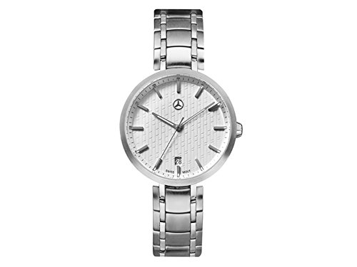 Mercedes-Benz, Reloj de pulsera mujer, Business Lady Plateado/Blanco, Acero inoxidable