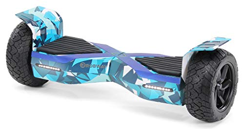 Robway X1 Hoverboard - Das Original - Offroad Edition - Samsung Marken Akku - Self Balance - Bluetooth Lautsprecher - 700 Watt Motor - App - Led (X1 Navy Camo, Offroad)